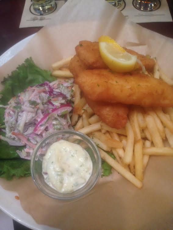 A pairing lunch at karl strauss 39 downtown brewpub cellar for Wave fish and chips
