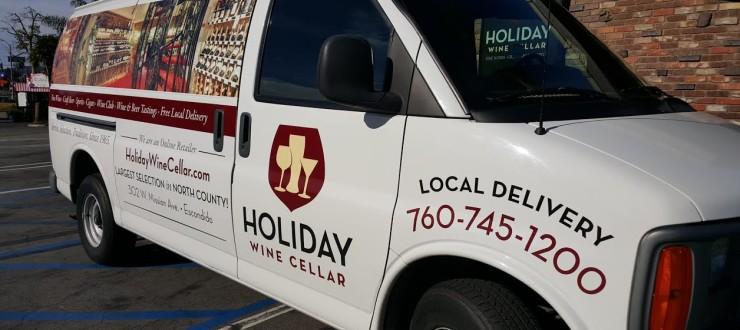 Holiday Wine Cellar Local Delivery Van